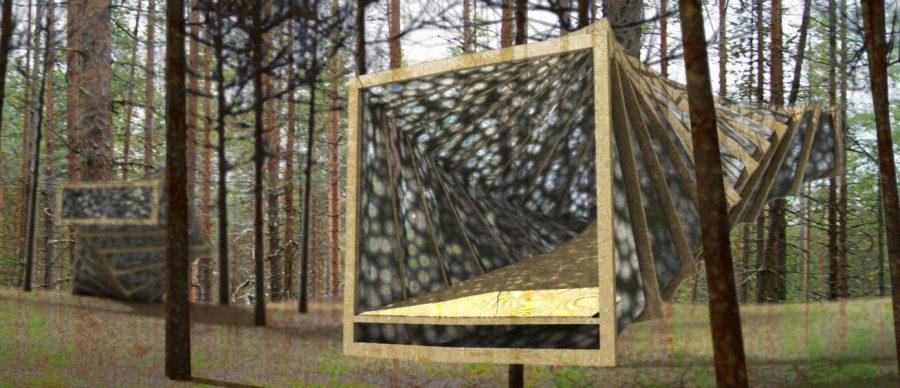 refugio forestal
